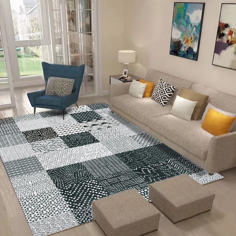 Tapis de style moderne minimaliste nordique pour salon canapé table basse tapis chambre chevet couverture Rectangle maison tapis