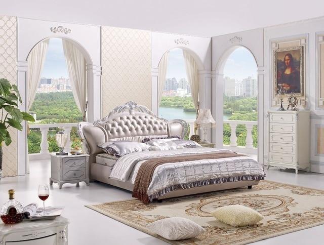 Slaapkamer Amerikaanse Stijl : De moderne designer lederen zacht bed grote dubbele slaapkamer