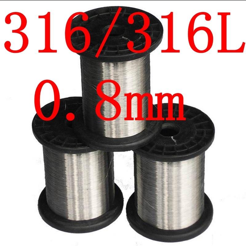 0.8mm,316/316L Soft Stainless Steel  Wire,21 gauge around/0.8mm SS Seaworthy Thread 3mm 7 7 stainless steel 316 wire rope 7x7 strand core seaworthy marine grade