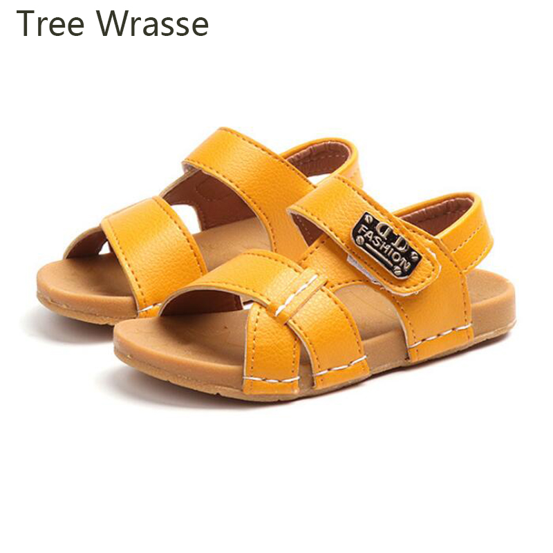 Boy Beach Sandals Summer childrens shoes for boys 2018 New Solid fashion Childrens Beach Shoes Casual Non-slip Soft Sandals
