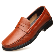 2019 New Genuine Leather Men Casual Shoes Spring Autumn Breathable Flats Real High Quality DA049