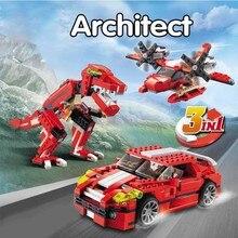 Marvel ciudad arquitecto 3 en 1 creador rugiendo de bloques de construccion ladrillos modelo juguetes para ninos compatibles Leg цены