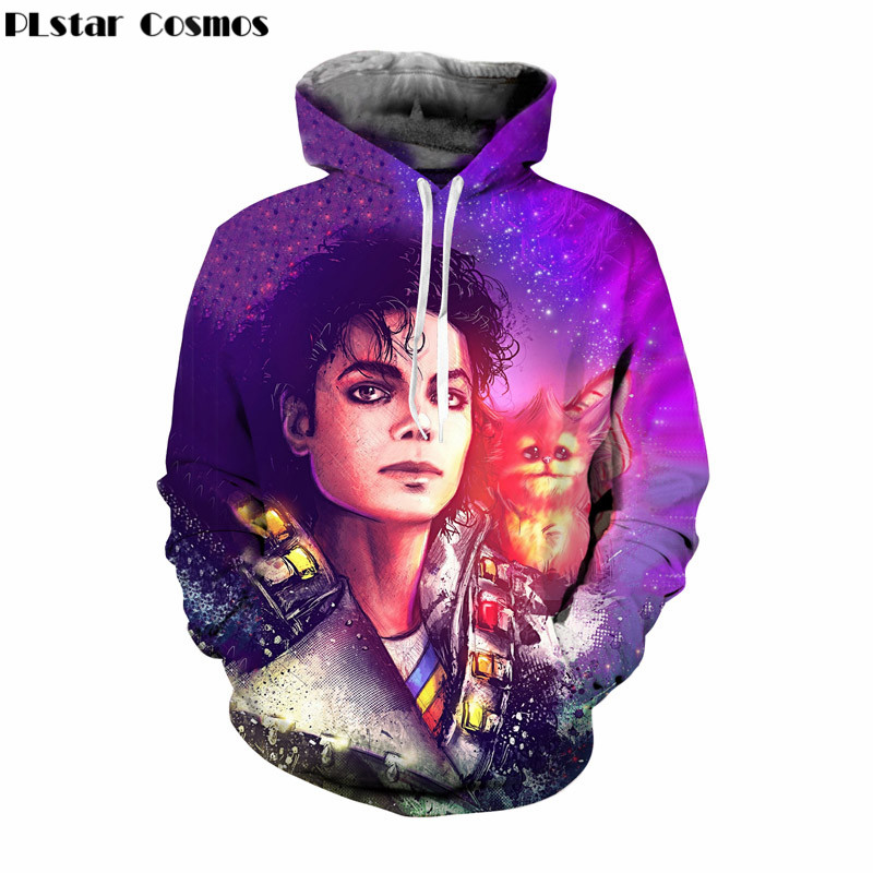 PLstar Cosmos Plus Size 4XL 5XL Michael Jackson 3d Hoodies Sweatshirt women Men 39 s Harajuku Hooded Hip Hop Pullover Dropship in Hoodies amp Sweatshirts from Men 39 s Clothing