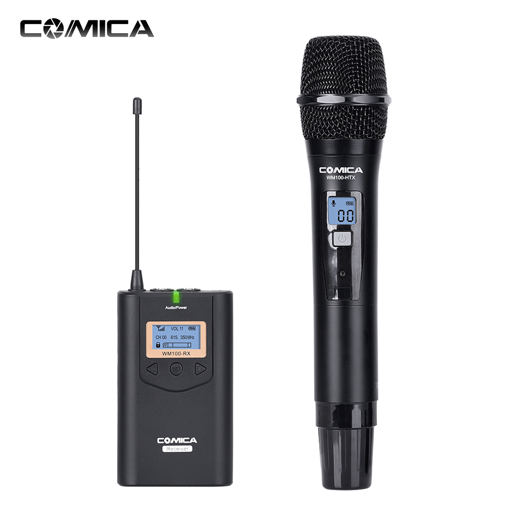 COMICA Wireless Microphone Mikrafon Audio Recording CVMWM100H Studio Microphone Mic for DSLR Camera Camcorder Transmitter
