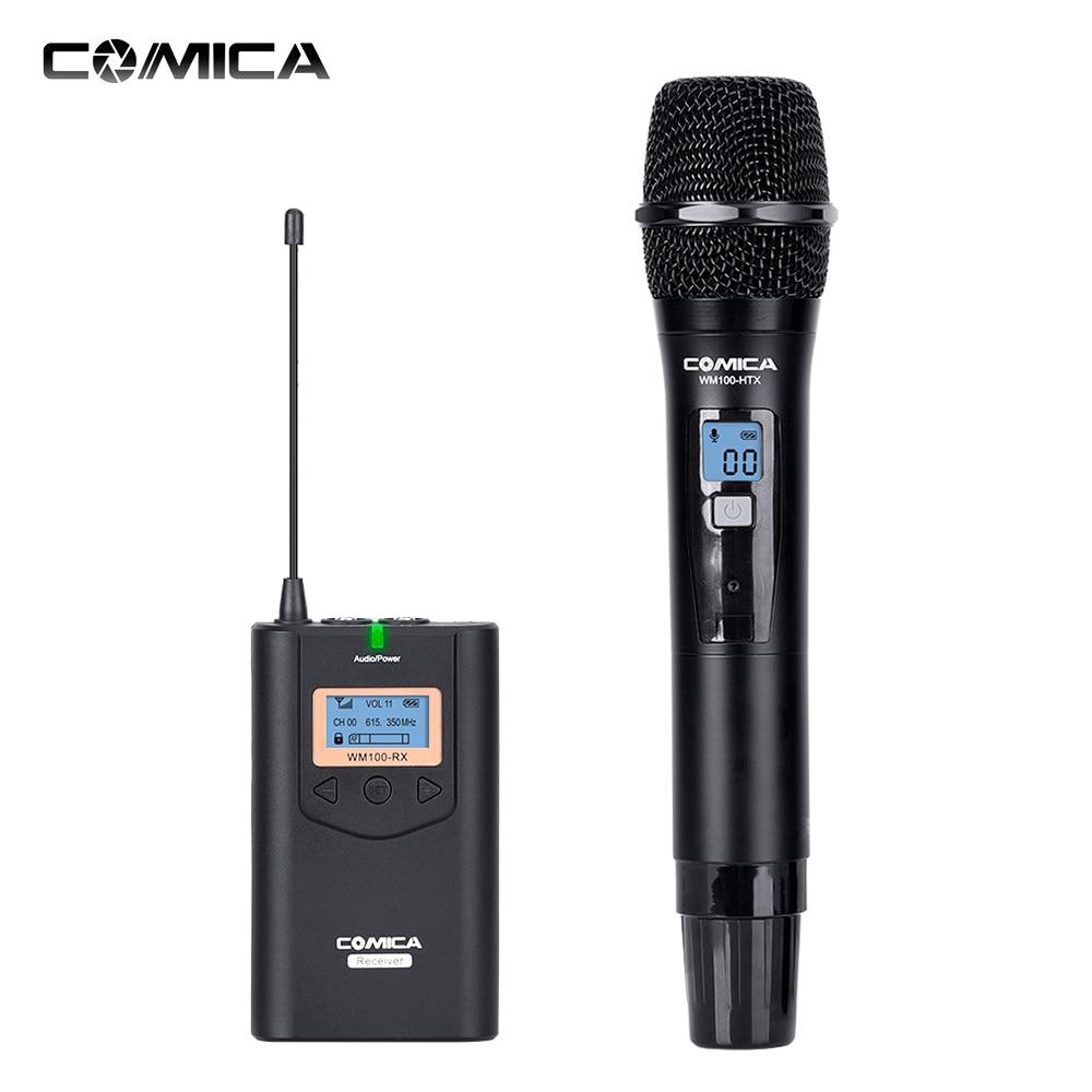 COMICA Wireless Microphone Mikrafon Audio Recording CVMWM100H Studio Microphone Mic for DSLR Camera Camcorder Transmitter