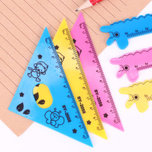 4PCS/Set Kawaii Ruler Set School Supplies Animal Stationary Creative Cartoon Protractor Multifunction Rulers Drafting Supplies(China)