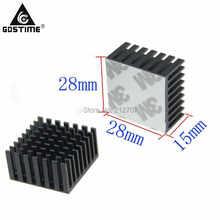 1 Pieces/lot Black Aluminum Heat Sink Heatsinks 28x28x15mm Radiator Cooler