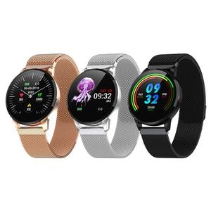 Image 5 - 2019 nouveau Fitness montre intelligente femmes en cours dexécution moniteur de fréquence cardiaque Bluetooth podomètre tactile Intelligent sport Smartwatch femmes hommes