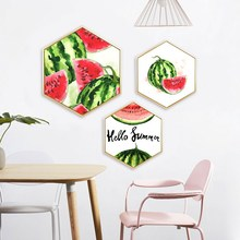 Modern nordic ins abstract style Small fresh watermelon decorative painting bedrooms restaurant Corridor aisle mural