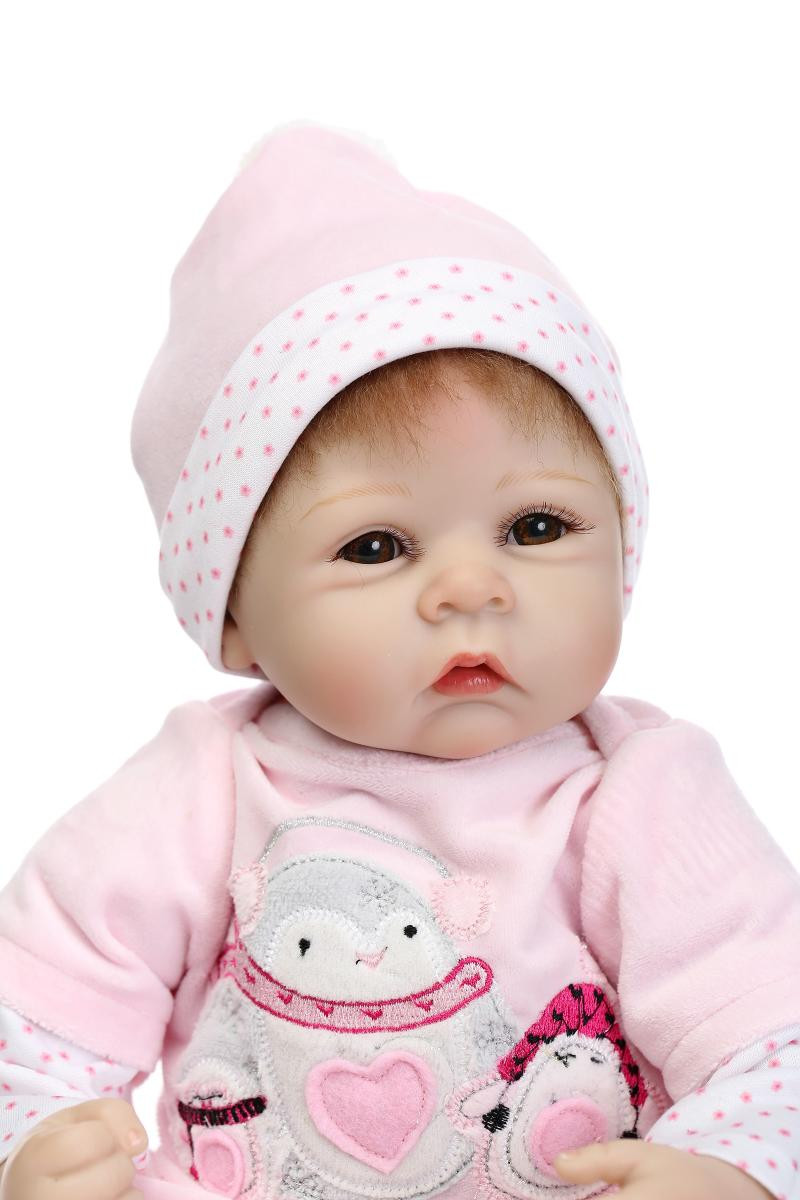 55cm Silicone Reborn Dolls Lifelike Baby Newborn adorable stylish simulation fake infant bedtime birthday gifts for sale toys55cm Silicone Reborn Dolls Lifelike Baby Newborn adorable stylish simulation fake infant bedtime birthday gifts for sale toys