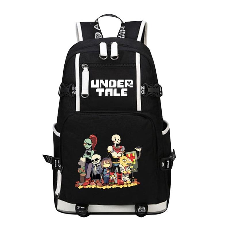 Undertale Sans Papyrus Skeleton Brothers Men Backpack Canvas School Bags Travel Bagpack Laptop Backpack Undertale Bookbag       - title=