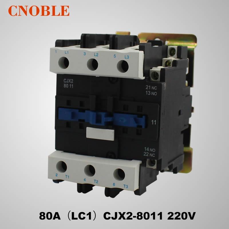 цена на AC contactor 80A (LC1) CJX2-8011 220V Coil Voltage Silver Contact