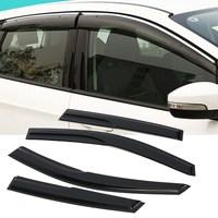 Window Visor Rain Wind Deflector Shade Chrome Trim OE For Honda CRV 2012 2016