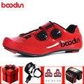 Boodun/Обувь для шоссейного велоспорта; Мужская обувь из углеродного волокна; комплект для езды на велосипеде; Sapatilha Ciclismo; самоблокирующаяся ды...