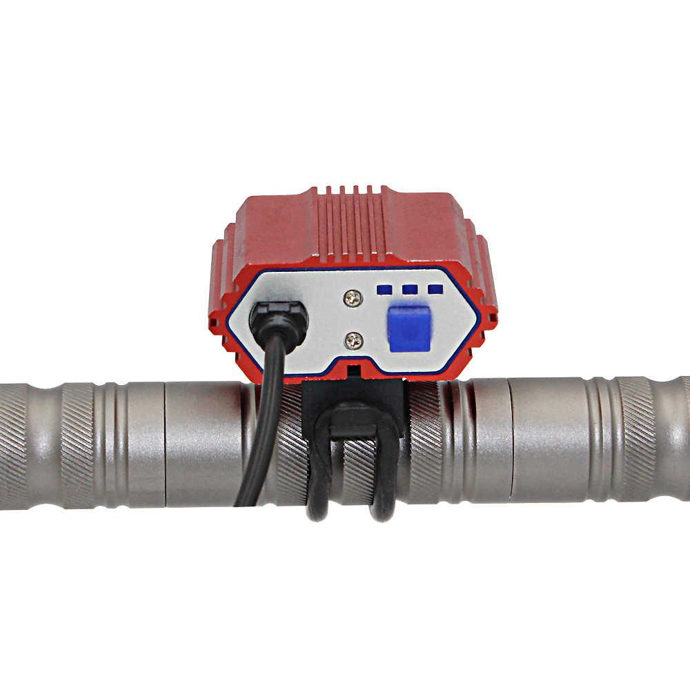 自転車ライト 2400LM 2x XML T6 LED バイク懐中電灯ヘッドライト防水ヘッドライト USB 充電式ランプサイクリング