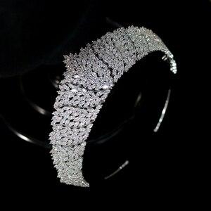 Image 5 - ASNORA קלאסי CZ מעוקב Zirconia כלה חתונת כיסוי ראש כתר בגימור נשים של המפלגה תכשיטי אבזרים