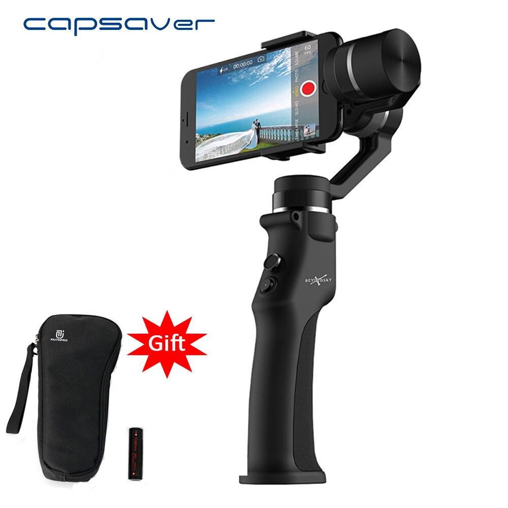 Stabilisateur portatif de bâton de Selfie de stabilisateur de cardan de 3 axes de capsaver pour le téléphone Xiaomi iPhone Bluetooth APP cardan Mobile portatif