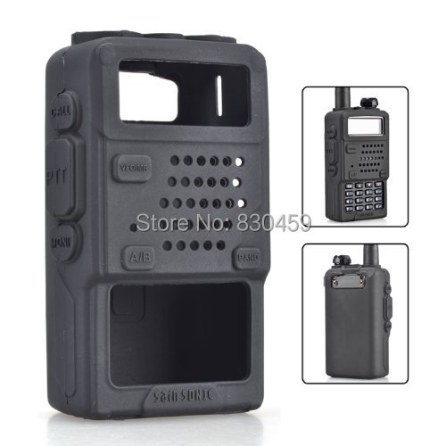 2 stk Baofeng UV-5R Gummi Soft Case til Walkie Talkie Radio UV-5R UV-5RA UV-5RB UV-5RC UV-5RE Plus TH-F8 Radio Sort Farve