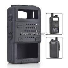 2Pcs Baofeng UV-5R Rubber Soft Case For Walkie Talkie Radio UV-5R UV-5RA UV-5RB UV-5RC UV-5RE Plus TH-F8 Radio Black Color