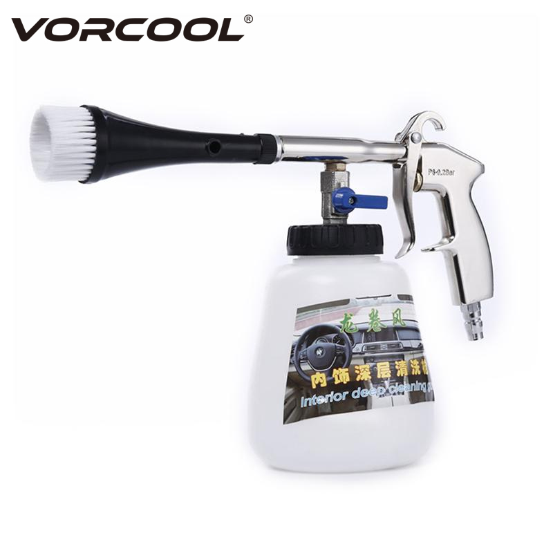 VORCOOL High Pressure Car Interior Cleaning Gun Air Pulse Washer Equipment High Pressure Spray Nozzle Foam Bottle with Brush cleaning brush with spray