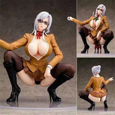 NEW hot 17cm sexy adult Kangoku Gakuen Prison School Shiraki Meiko Squat down collectors action figure toys Christmas gift doll