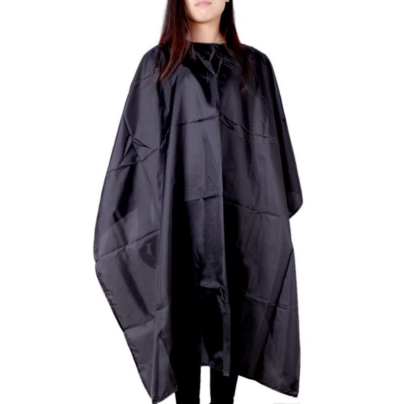 1pc Wrap Solid Hair Cutting Black Large Size Makeup Beauty Salon Adult Waterproof Hairdressing Barbers Hairdresser Gown Cape