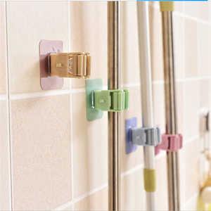 Image 3 - Creative Wall Mounted Storage Rack in Shower Room Mop Organizer Holder Brush Broom Suction on Wall Hanger Storage Rack Kitchen T