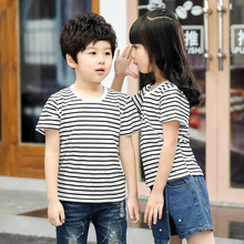 Childrens short-sleeved cotton summer New cartoon boy T-shirt girls top baby fashion bottoming shirt
