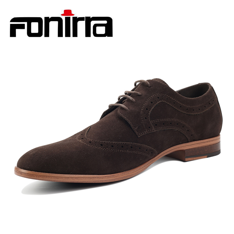 FONIRRA Fashion Suede Men Flat Casual Shoes Men Leather Flock Dress Shoes Luxury Lace Up Oxford Loafers Moccasins For Men 403 stylish suede and tie up design casual shoes for men
