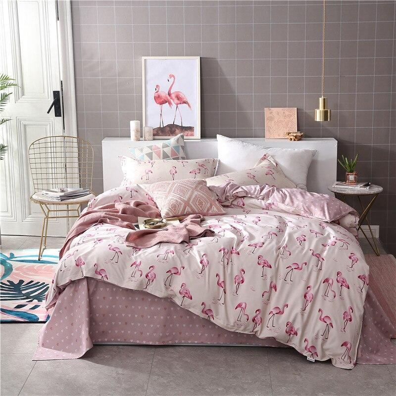 New Stylish Home Spun Pink Flamingo Love Bedding Set Girl