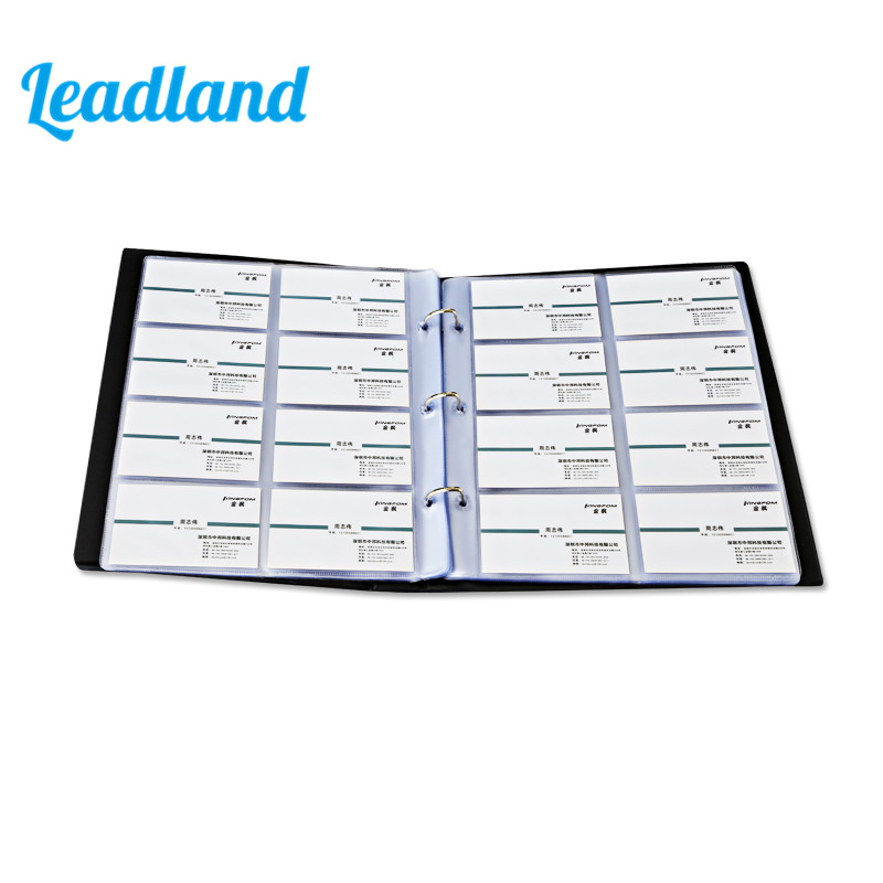 240 Cards Large Capacity PU Leather Business Card Holder Card Collection Book  1493 portable 120 cards pvc matte antimagnetic leather business name id credit card holder keeper organizer book