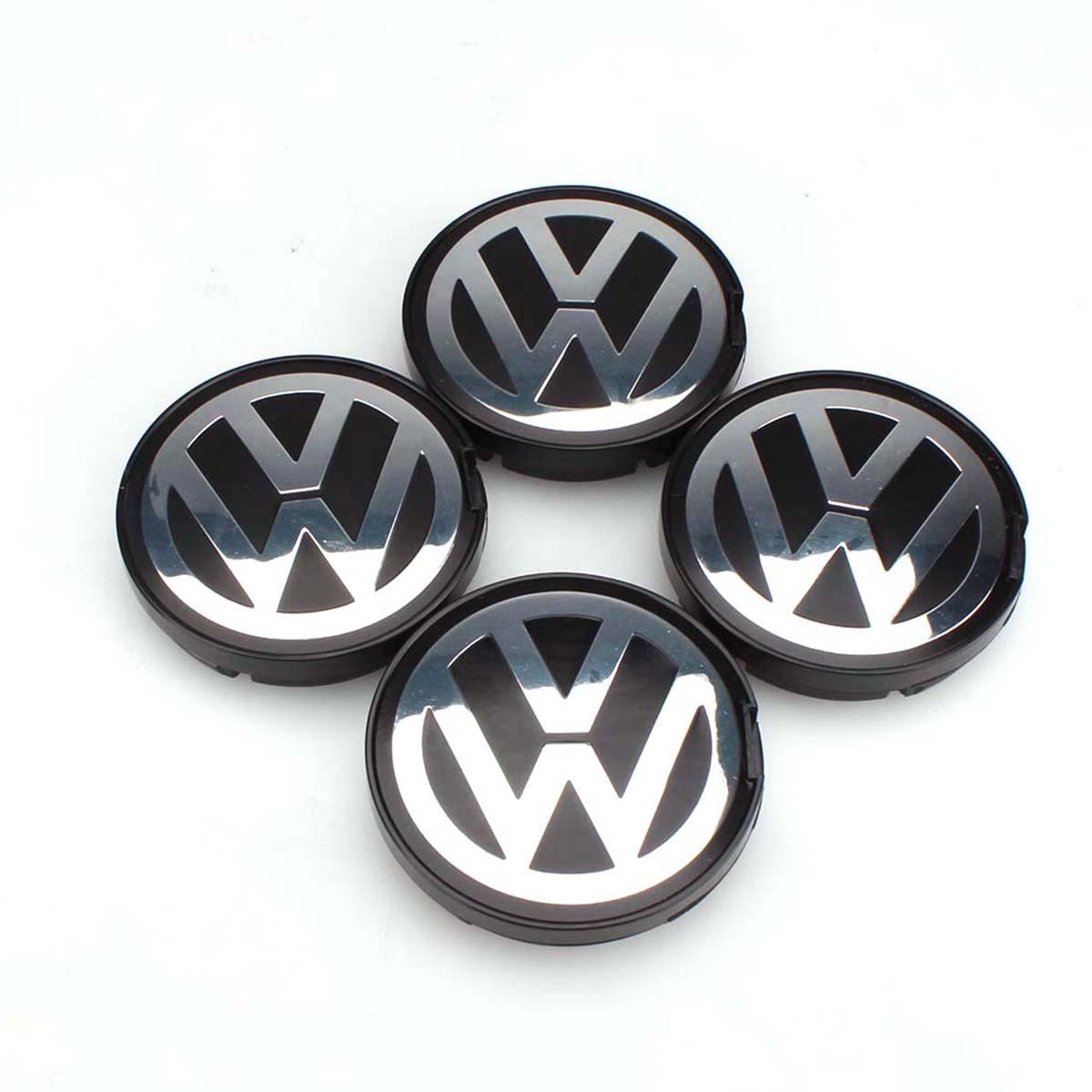 OEM Hub Logo Emblem 55mm del Centro di Rotella della Protezione Della Protezione di Mozzo Della Copertura per il VW Volkswagen Golf Jetta Passat GTI R32 Bora 6N0 601 171