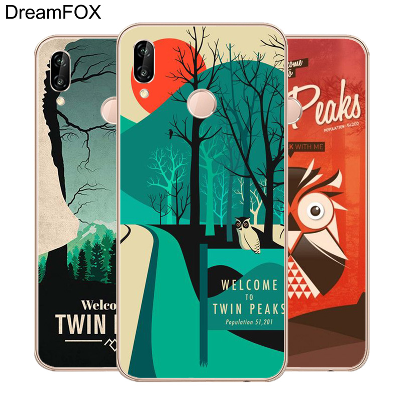 DREAMFOX L406 Welcome To Twin Peaks Soft TPU Silicone Case Cover For Huawei Honor 6A 6C 7X 9 10 P20 Lite Pro P Smart