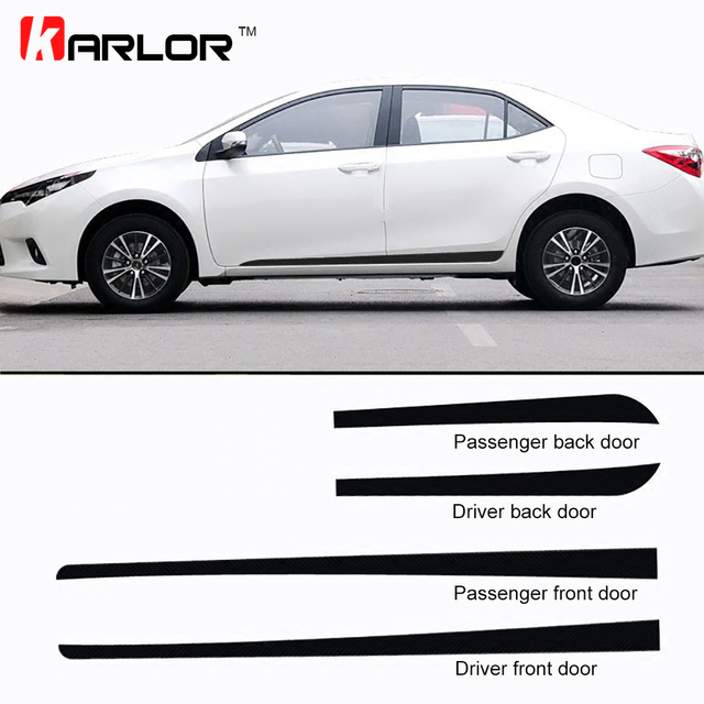 Car Door Side Skirt Fender Carbon Fiber Protection Film Car-styling Stickers And Decals For  sc 1 st  AliExpress.com & Car Door Side Skirt Fender Carbon Fiber Protection Film Car styling ...