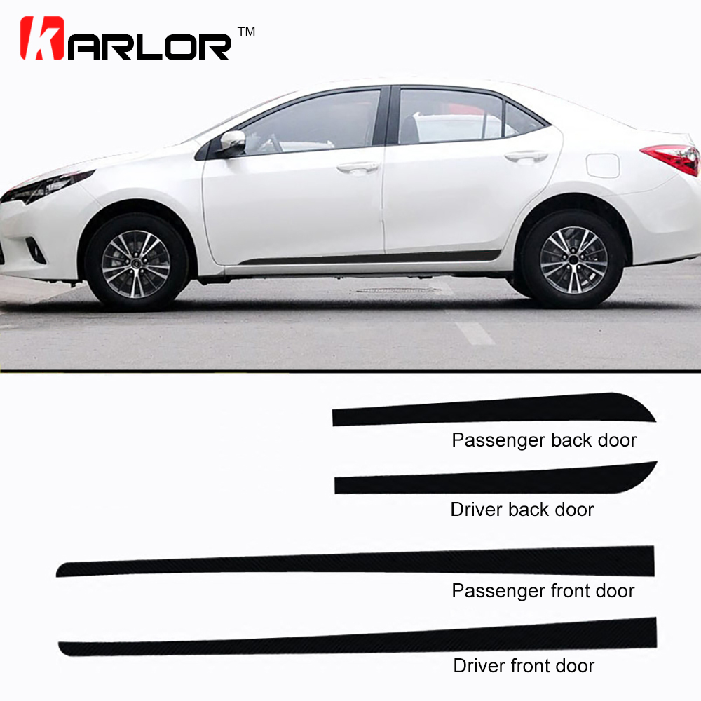 Car Door Side Skirt Fender Carbon Fiber Protection Film Car-styling Stickers And Decals  ...