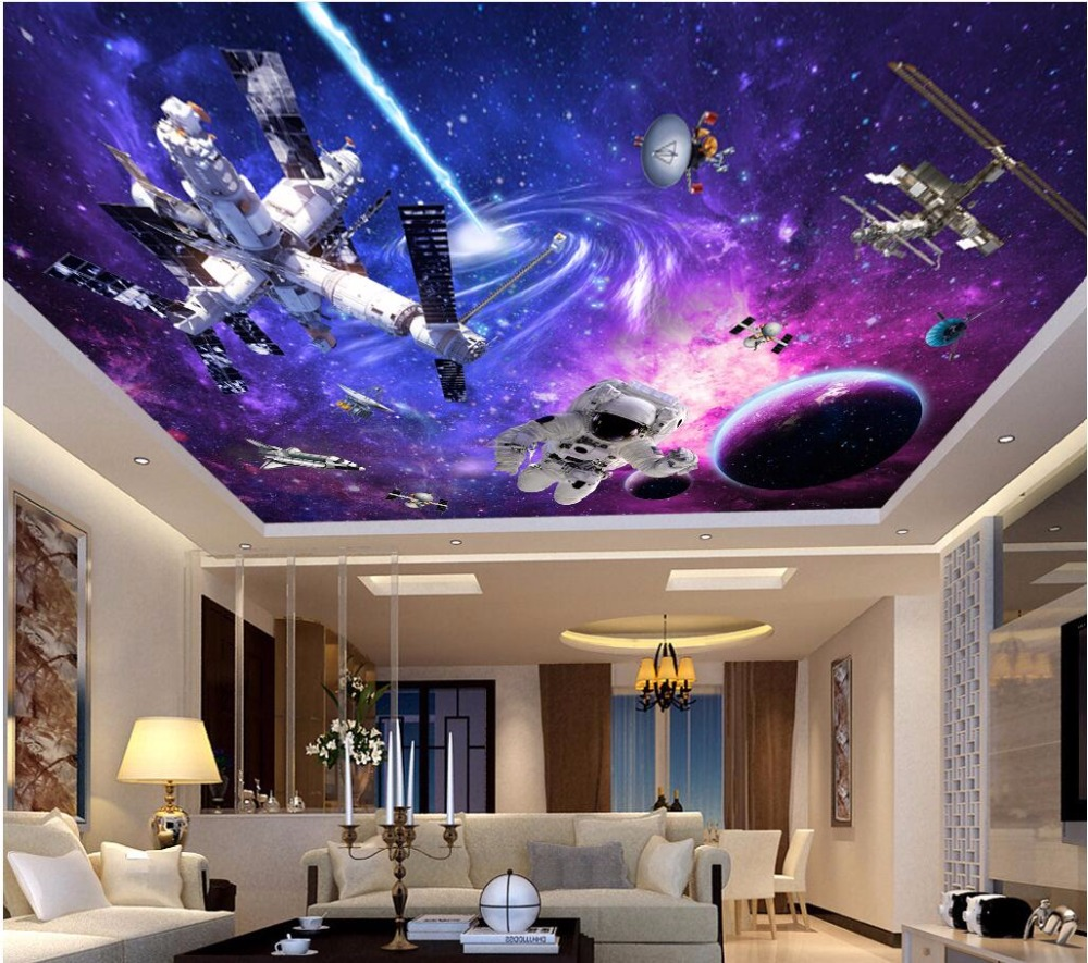 popular space stars wallpaper buy cheap space stars wallpaper lots wdbh custom 3d ceiling murals wallpaper universe star space station home decor painting 3d wall murals