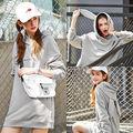 Women Rabbit Ears Long Sleeve Hoodie Sweatshirt Cute Girl Hooded Coat Pullover JZ8