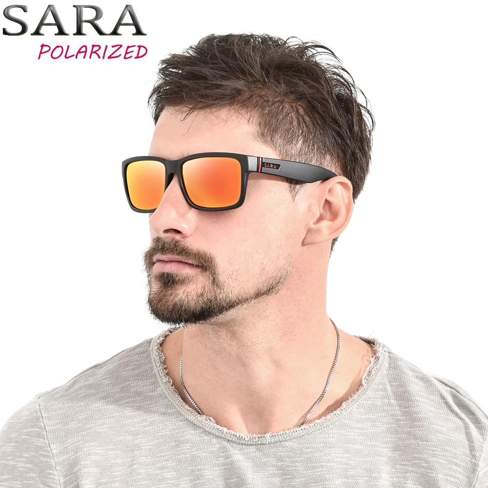 Сара модного бренда поляризованные Для мужчин Солнцезащитные очки для женщин все-Fit квадратное зеркало Защита от солнца Очки для Для женщин...