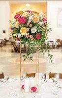 4 цвета 10 шт. Цветочная ваза колонны напольные вазы колонна-подставка металлическая дорога свинцовый свадебный стол Центральная подставка ...