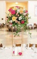 4 colores 10 Uds florero columnas piso jarrones soporte de columna Metal camino plomo boda MESA CENTRO DE MESA florero decoración de eventos