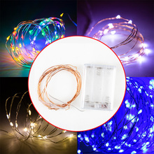 Garland Outdoor Led-String-Lights Battery Party-Decoration Powered Christmas Wedding