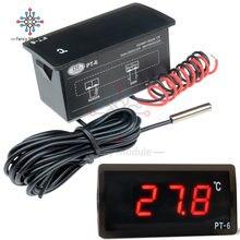 Diymore dc 12v/ac 220v all-purpose teste led digital medidor de temperatura display termômetro aquário com sensor ntc sonda