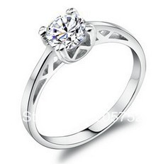 925 Silver Ring For Women Christmas Silver Simple Engagement Ring Designs Size 4 Rings Discount Online Shopping Finger
