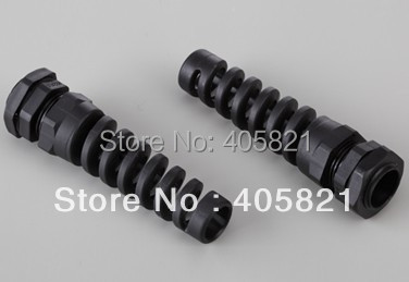 PG21 nylon bending proof spiral cable gland For 13 18mm Cable Range
