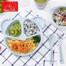 3Pcs/Set Baby Plate+Spoon+Fork Feeding Food Tableware Cartoon Bear Kids Dishes Eating Dinnerware Anti-hot Training Dinner Bowl все цены