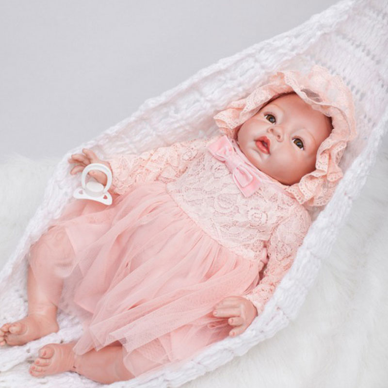 BeBe Reborn 22inch Soft Silicone Reborn Dolls Toys 55cm Lifelike Newborn Girl Baby Doll Juguetes Babies Birthday Gift Brinquedos-in Dolls from Toys & Hobbies