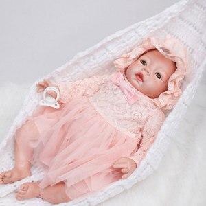 Image 1 - BeBe Reborn 22inch Soft Silicone Reborn Dolls Toys 55cm Lifelike Newborn Girl Baby Doll Juguetes Babies Birthday Gift Brinquedos