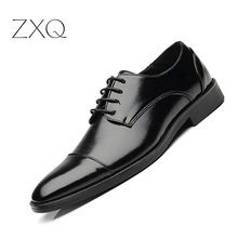 Plus Size 38-48 Leather Men Shoes Italian Formal Dress Male Footwear Luxury Brand Fashion Lace Up Men Flat Oxfords yeinshaars men genuine leather oxfords shoes luxury brand italian style male footwear shoes for men breathable flat lace up shoe
