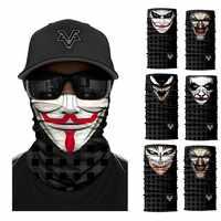 V para Vendetta Anime Skull Venom máscara de pesca senderismo esquí Headwear Bandanas sin costuras diadema a prueba de viento bufanda deportiva cuello