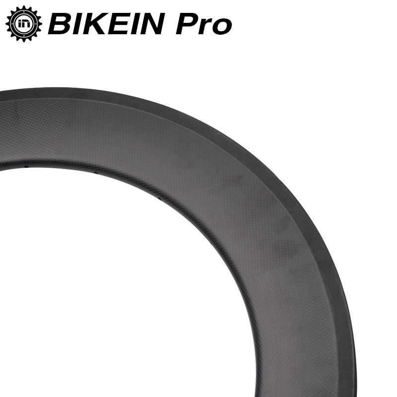 BIKEIN 88mm profondeur 3 k carbone route vélo roues 700C pneu tubulaire cyclisme jante 23mm largeur vélo pièces mat/finition brillante